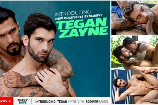Cocky Boys » Introducing New Exclusive Tegan Zayne With Boomer Banks