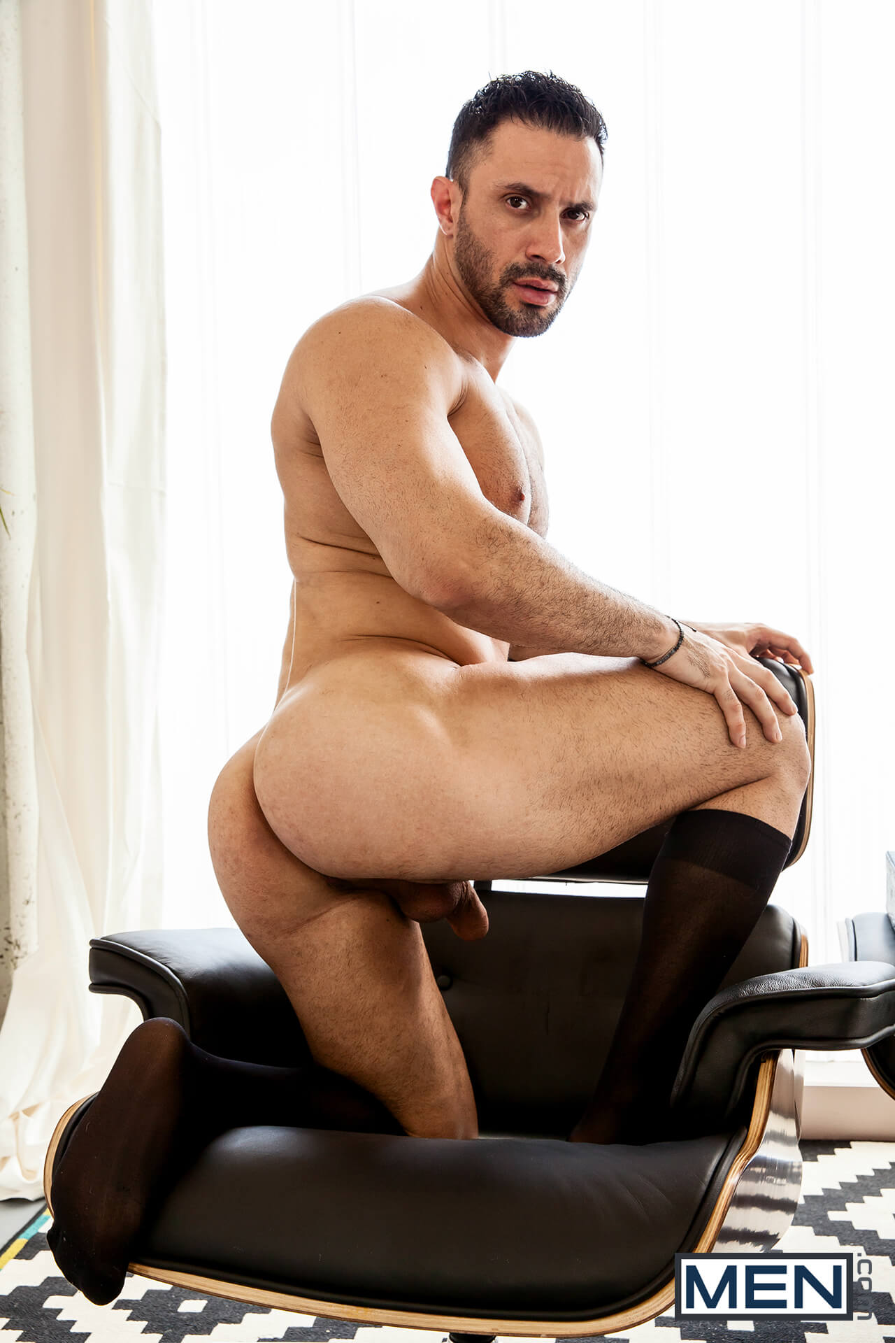 Gay muscle pornstar drilling tight ass