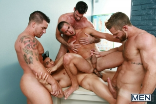 MEN.COM » Jizz Orgy » Gaywatch Part 4 » Billy Santoro » Braden Charron » Landon Conrad » Mike De Marko » Topher Di Maggio