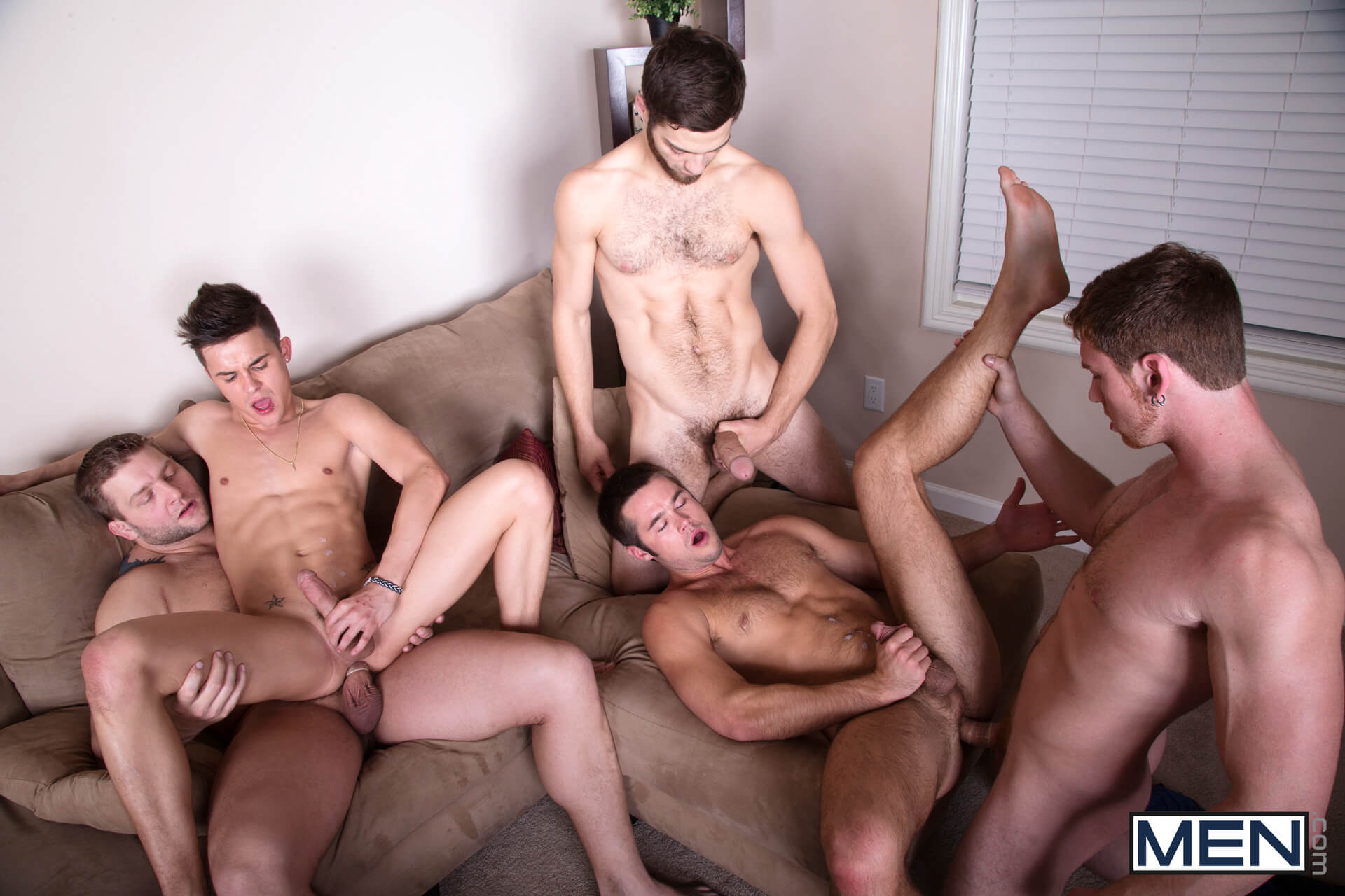 MEN.COM » Jizz Orgy » Intervention » Andy Taylor » Colby Jansen » Connor Maguire » Mike De Marko » Tommy Defendi