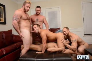 MEN.COM » Jizz Orgy » My Two Daddies Part 3 » Aaron Bruiser » Charlie Harding » John Magnum » Luke Adams » Rikk York