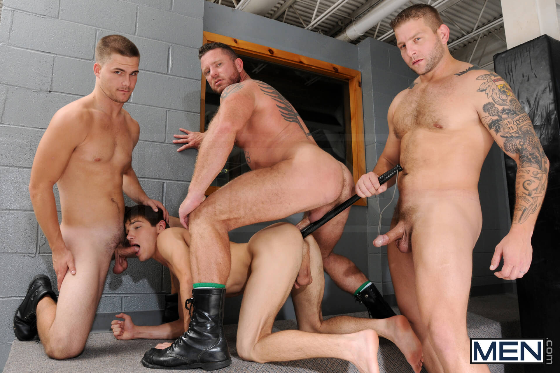 MEN.COM » Jizz Orgy » Prison Shower Part 3 » Charlie Harding » Colby Jansen » Jimmy Johnson » Johnny Rapid