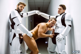 MEN.COM » Jizz Orgy » Star Wars 4: A Gay XXX Parody » Hector De Silva » Luke Adams » Paddy O'Brian » Troopers