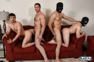 MEN.COM » Jizz Orgy » Stealing Johnny Part 3 » Connor Maguire » Jason Maddox » Johnny Rapid » Will Braun