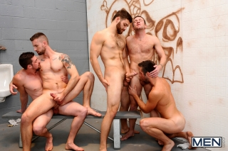 MEN.COM » Jizz Orgy » Tales Of The John Part 3 » Andrew Stark » Mike De Marko » Tommy Defendi » Trevor Knight » Troy Daniels