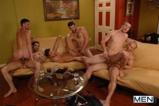 MEN.COM » Jizz Orgy » The Key Party » Jake Steel » John Magnum » Phenix Saint » Rocco Reed » Spencer Fox » Tommy Defendi