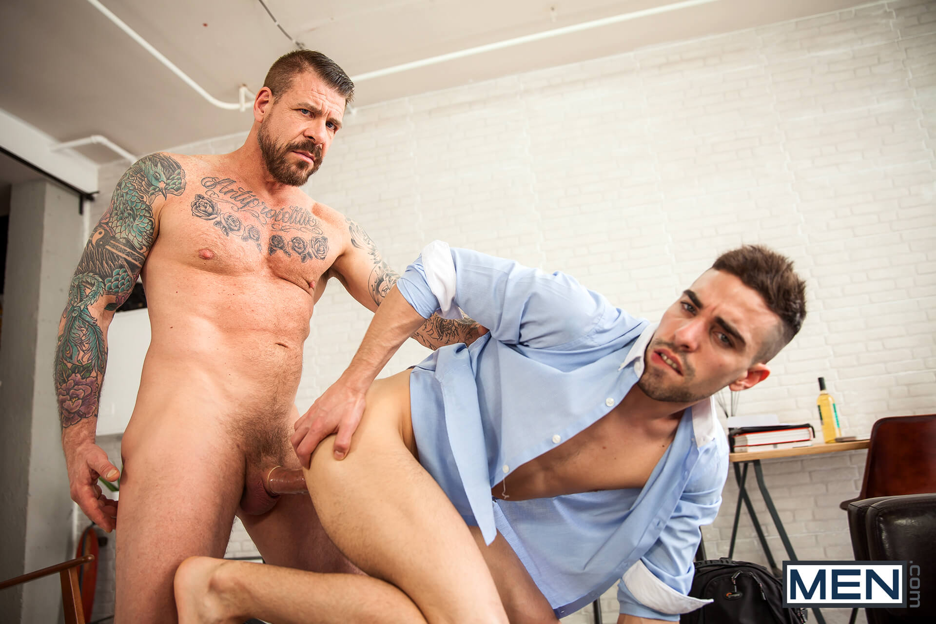 MEN.COM » Str8 To Gay » Eat, Prey, Fuck Part 1 » Josh Milk » Rocco Steele