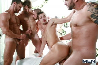 MEN.COM » Super Gay Hero » Sex Traveler Part 3 » Adam Herst » Colby Jansen » Colby Keller » JD Phoenix » Landon Conrad