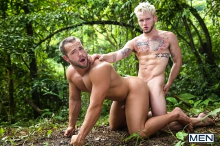 MEN.COM » Super Gay Hero » Tarzan: A Gay XXX Parody Part 1 » Colton Grey » Luke Adams