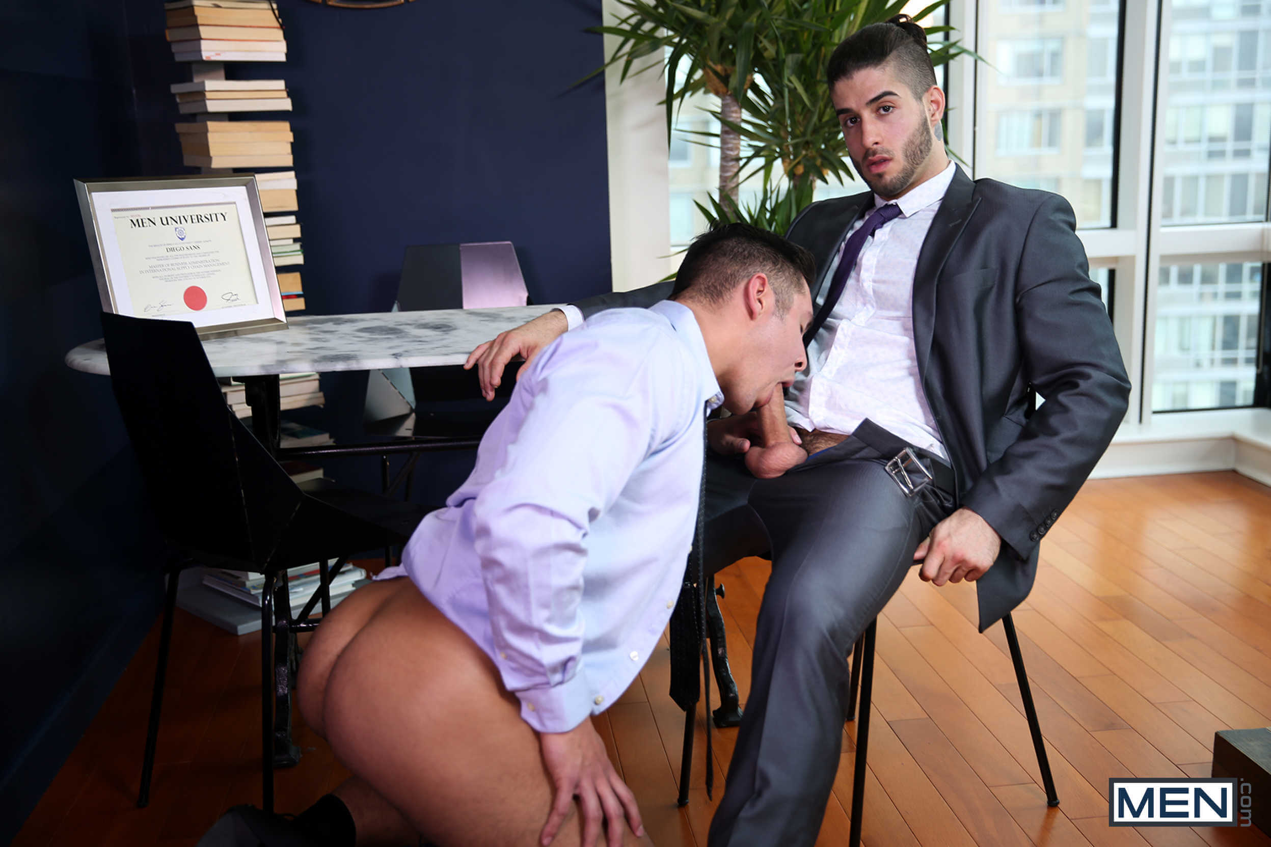 Gay porn office
