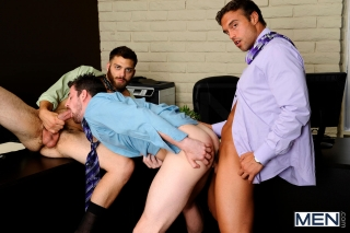MEN.COM » The Gay Office » The Promotion » Andrew Stark » Rocco Reed » Tommy Defendi