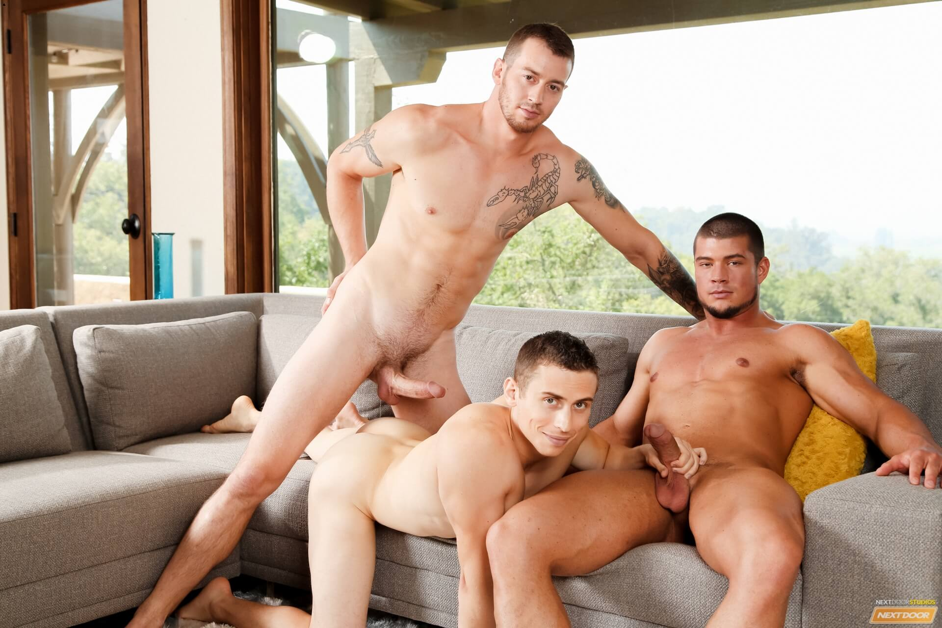 Gay Threesomes Huge